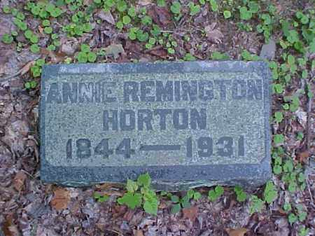 REMINGTON HORTON, ANNIE - Meigs County, Ohio | ANNIE REMINGTON HORTON - Ohio Gravestone Photos