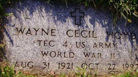 HOYD, WAYNE CECIL - Meigs County, Ohio | WAYNE CECIL HOYD - Ohio Gravestone Photos