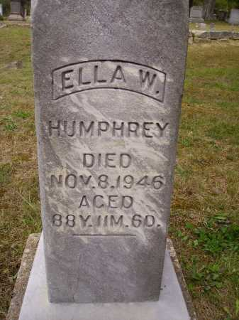 HUMPHREY, ELLA W. - Meigs County, Ohio | ELLA W. HUMPHREY - Ohio Gravestone Photos