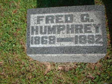 HUMPHREY, FRED G. - Meigs County, Ohio | FRED G. HUMPHREY - Ohio Gravestone Photos