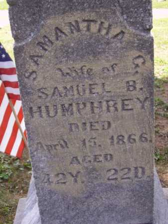 GILES HUMPHREY, SAMANTHA G. - Meigs County, Ohio | SAMANTHA G. GILES HUMPHREY - Ohio Gravestone Photos