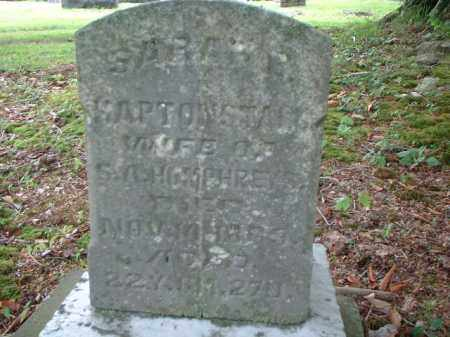 HAPTONSTALL HUMPHREY, SARAH - Meigs County, Ohio | SARAH HAPTONSTALL HUMPHREY - Ohio Gravestone Photos
