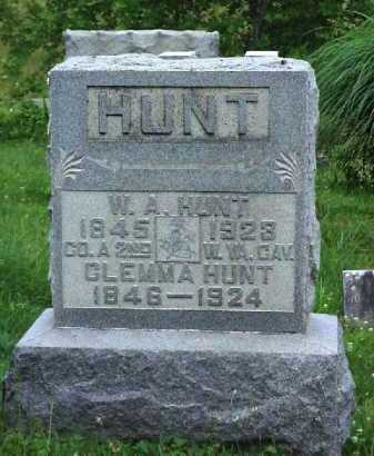 HUNT, W. A. - Meigs County, Ohio | W. A. HUNT - Ohio Gravestone Photos
