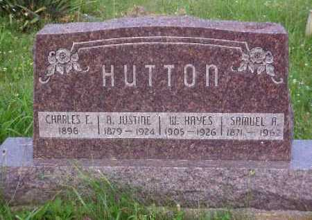 HUTTON, A. JUSTINE - Meigs County, Ohio | A. JUSTINE HUTTON - Ohio Gravestone Photos