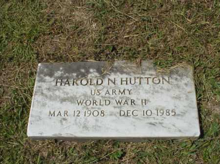 HUTTON, HAROLD N.- MILITARY - Meigs County, Ohio | HAROLD N.- MILITARY HUTTON - Ohio Gravestone Photos