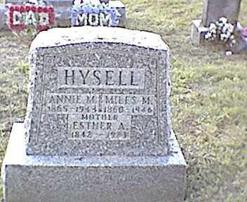 HYSELL, ESTHER A. - Meigs County, Ohio | ESTHER A. HYSELL - Ohio Gravestone Photos