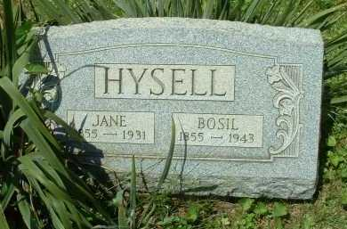 HYSELL, BOSIL - Meigs County, Ohio | BOSIL HYSELL - Ohio Gravestone Photos