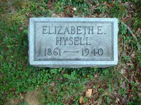 HYSELL, ELIZABETH E. - Meigs County, Ohio | ELIZABETH E. HYSELL - Ohio Gravestone Photos