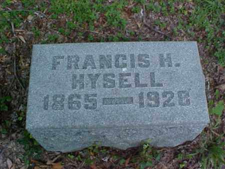 HYSELL, FRANCES H. - Meigs County, Ohio | FRANCES H. HYSELL - Ohio Gravestone Photos