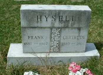 HYSELL, GERTRUDE - Meigs County, Ohio | GERTRUDE HYSELL - Ohio Gravestone Photos