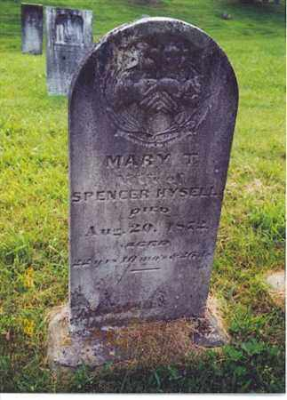 HYSELL, MARY T. - Meigs County, Ohio | MARY T. HYSELL - Ohio Gravestone Photos