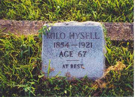 HYSELL, MILO - Meigs County, Ohio | MILO HYSELL - Ohio Gravestone Photos