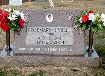 HYSELL, ROSEMARY - Meigs County, Ohio | ROSEMARY HYSELL - Ohio Gravestone Photos