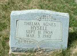 HYSELL, THELMA AGNES - Meigs County, Ohio | THELMA AGNES HYSELL - Ohio Gravestone Photos