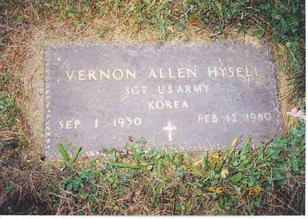 HYSELL, VERNON ALLEN - Meigs County, Ohio | VERNON ALLEN HYSELL - Ohio Gravestone Photos