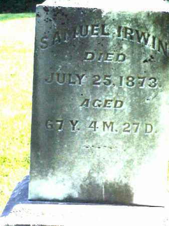 IRWIN, SAMUEL - Meigs County, Ohio | SAMUEL IRWIN - Ohio Gravestone Photos