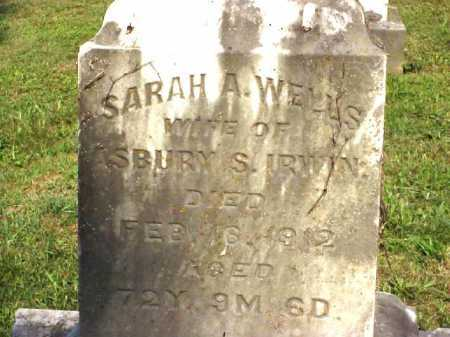 IRWIN, SARAH A. - Meigs County, Ohio | SARAH A. IRWIN - Ohio Gravestone Photos
