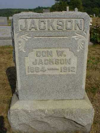 JACKSON, DON W. - Meigs County, Ohio | DON W. JACKSON - Ohio Gravestone Photos