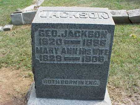 JACKSON, MARY ANN - Meigs County, Ohio | MARY ANN JACKSON - Ohio Gravestone Photos