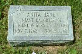 JEFFERS, ANITA JANE - Meigs County, Ohio | ANITA JANE JEFFERS - Ohio Gravestone Photos