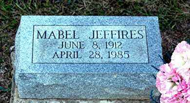 JEFFIRES, MABEL - Meigs County, Ohio | MABEL JEFFIRES - Ohio Gravestone Photos