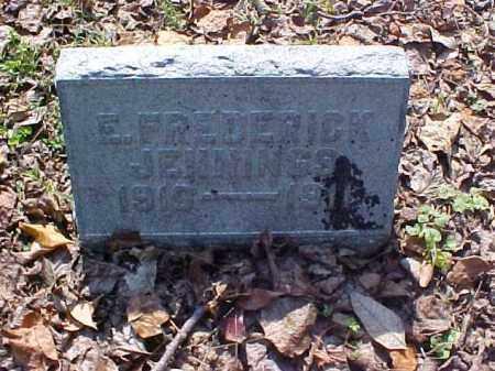 JENNINGS, E. FREDERICK - Meigs County, Ohio | E. FREDERICK JENNINGS - Ohio Gravestone Photos