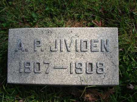 JIVIDEN, A P - Meigs County, Ohio | A P JIVIDEN - Ohio Gravestone Photos