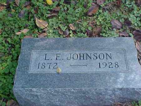 JOHNSON, L. E. - Meigs County, Ohio | L. E. JOHNSON - Ohio Gravestone Photos