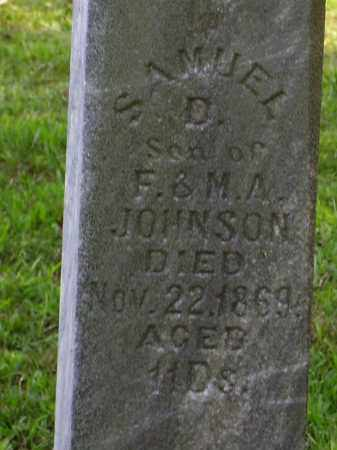 JOHNSON, SAMUEL D. [CLOSE VIEW] - Meigs County, Ohio | SAMUEL D. [CLOSE VIEW] JOHNSON - Ohio Gravestone Photos