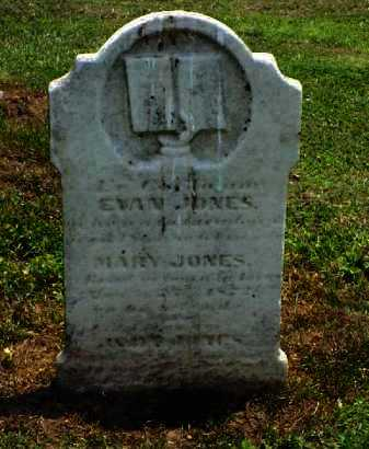 JONES, EVAN - Meigs County, Ohio | EVAN JONES - Ohio Gravestone Photos