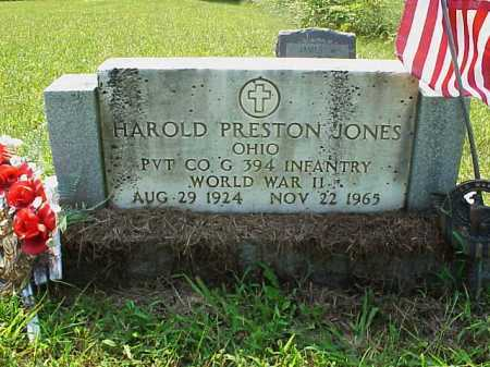 JONES, HAROLD PRESTON - Meigs County, Ohio | HAROLD PRESTON JONES - Ohio Gravestone Photos