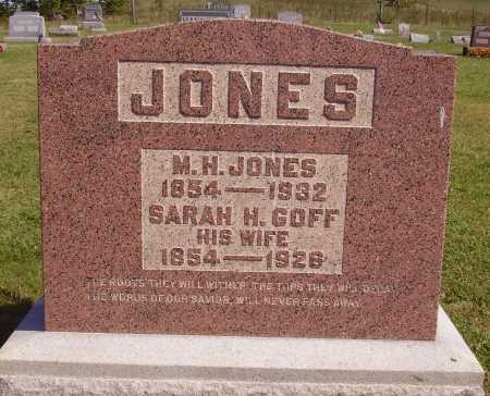 JONES, SARAH H. - Meigs County, Ohio | SARAH H. JONES - Ohio Gravestone Photos
