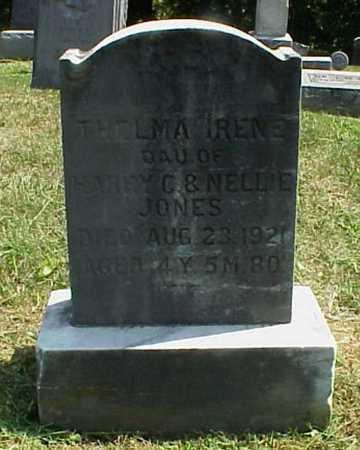 JONES, THELMA IRENE - Meigs County, Ohio   THELMA IRENE JONES - Ohio Gravestone Photos