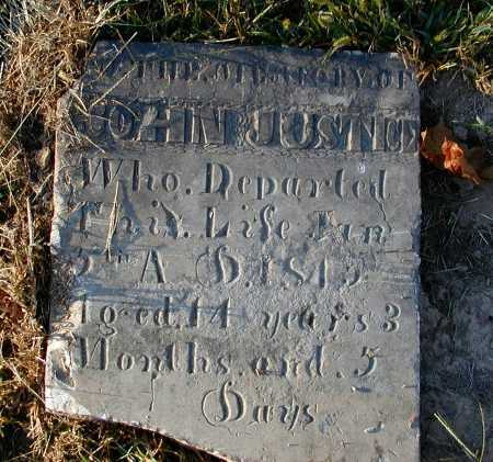 JUSTICE, JOHN - Meigs County, Ohio | JOHN JUSTICE - Ohio Gravestone Photos