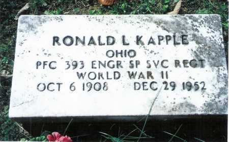KAPPLE, RONALD L. - Meigs County, Ohio | RONALD L. KAPPLE - Ohio Gravestone Photos