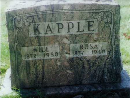 KAPPLE, WILL - Meigs County, Ohio | WILL KAPPLE - Ohio Gravestone Photos