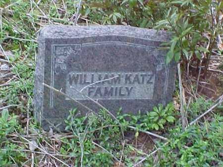 KATZ MONUMNET, WILLIAM - Meigs County, Ohio | WILLIAM KATZ MONUMNET - Ohio Gravestone Photos