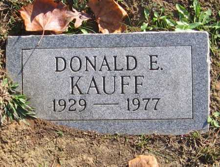 KAUFF, DONALD E. - Meigs County, Ohio | DONALD E. KAUFF - Ohio Gravestone Photos