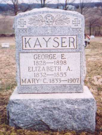 KAYSER, GEORGE E. - Meigs County, Ohio | GEORGE E. KAYSER - Ohio Gravestone Photos