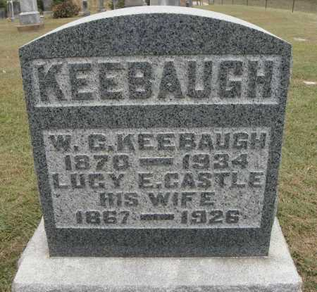 CASTLE KEEBAUGH, LUCY E. - Meigs County, Ohio | LUCY E. CASTLE KEEBAUGH - Ohio Gravestone Photos