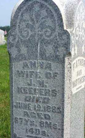 KEEPERS, ANNA - Meigs County, Ohio | ANNA KEEPERS - Ohio Gravestone Photos