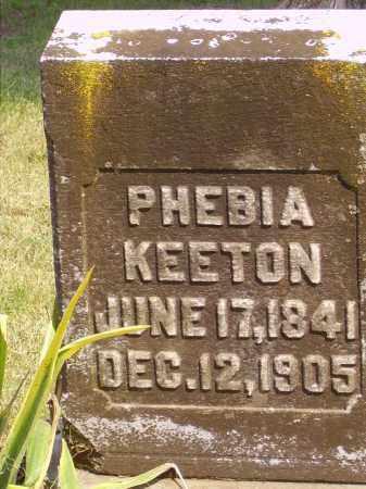 KEETON, PHEBIA - Meigs County, Ohio | PHEBIA KEETON - Ohio Gravestone Photos
