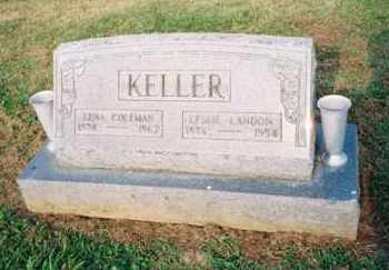 KELLER, LESLIE - Meigs County, Ohio | LESLIE KELLER - Ohio Gravestone Photos