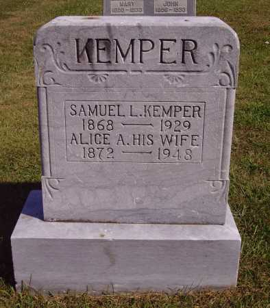KEMPER, ALICE A. - Meigs County, Ohio | ALICE A. KEMPER - Ohio Gravestone Photos
