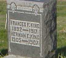 KING, FRANCES F. - Meigs County, Ohio | FRANCES F. KING - Ohio Gravestone Photos