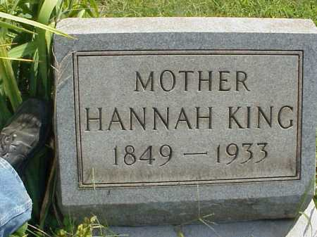KING, HANNAH - Meigs County, Ohio | HANNAH KING - Ohio Gravestone Photos