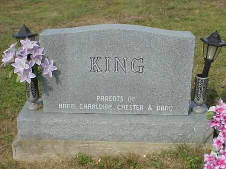 KING, MOUNMENT - BACK - Meigs County, Ohio | MOUNMENT - BACK KING - Ohio Gravestone Photos