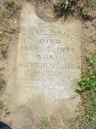 KING, PETER S. - Meigs County, Ohio | PETER S. KING - Ohio Gravestone Photos