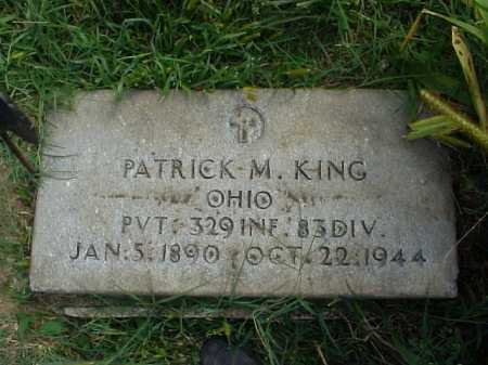 KING, PATRICK M. - Meigs County, Ohio | PATRICK M. KING - Ohio Gravestone Photos