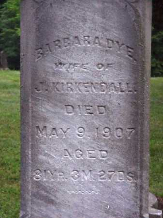 DYE KIRKENDALL, BARBARA - Meigs County, Ohio | BARBARA DYE KIRKENDALL - Ohio Gravestone Photos